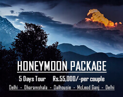Delhi Dharamshala Dalhousie McLeodGanj Honeymoon Package