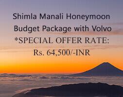 Shimla Manali Honeymoon Budget Package with Volvo